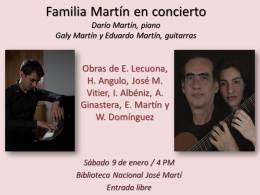 Familia Martín en concierto