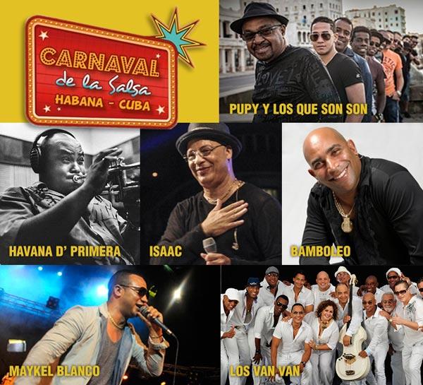 carnaval de la salsa en Cuba