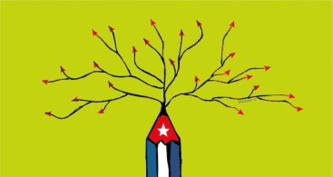 Bandera Cubana jimaguas