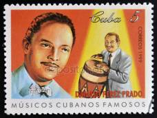 a-stamp-printed-in-cuba-dedicated-to-famous-cuban-musicians-shows-damaso-perez-prado-circa-1999