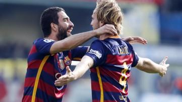Barcelona FC el turco Arda Turan y el croata Ivan rakitic
