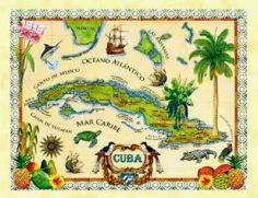 mapa de Cuba ilustra nota acerca de Quien mato al rumbero Malanga de Lino Betancourt Molina