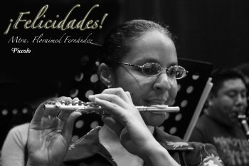 Floraimed Fernandez flautista cubana Orq Sinfonica de Campeche Mexico