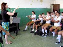 Erika von Kleist teaching in Havana
