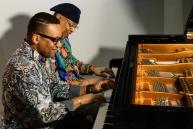 Gonzalito Rubalcaba y Chucho Valdes en el Dia Int del Jazz 2017