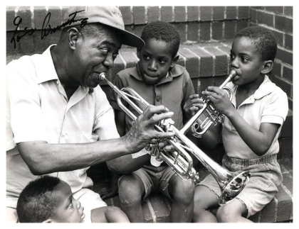 louis armstrong Pops teaching new warriors