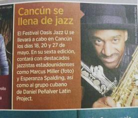 Oasis Jazz 2017 Marcus Miller Esperanza Spalding y Daniel Penalver promo