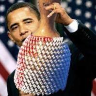 President Barack Obama w a chekere