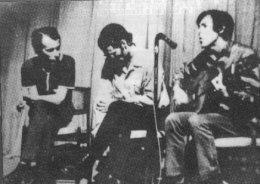 Silvio c Noel Nicola y otro cantautor