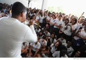 Wynton Marsalis playing for students in Havana HORNS TO HAVANA PROJECT