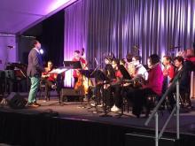 Yosvany Terry conducting The Harvard Jazz Band 1