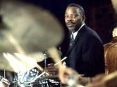 Drummer Kenny Clarke co-author of Salt peanuts w Dizzy G