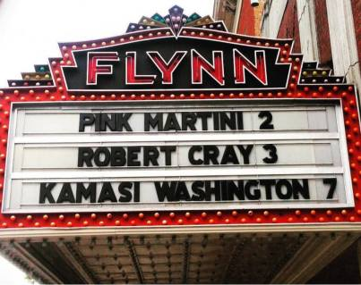 Flynn Theater Marquee 2017 Pink M R Cray K Washington