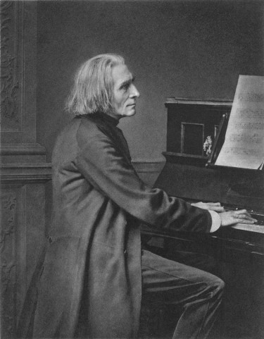 franz-liszt at the piano
