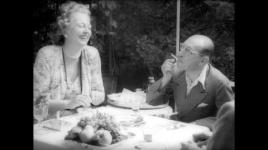 Igor Stravinski and Nadia Boulanger tertulia in the garden