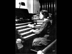 Nadia Boulanger playing the organ