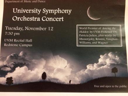 Patricia Julien w Uni Symphony Orch Concert