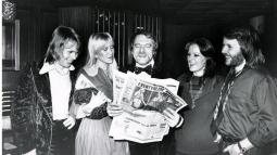 Abba and manager Stig Anderson