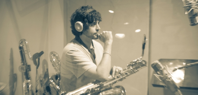 Brian Landrus saxophonist +studio + shot