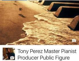 Tony Perez dejando huellas
