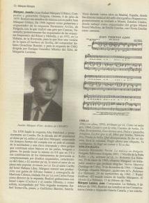 Juanito Marquez contraportada de un LP con datos biograficos