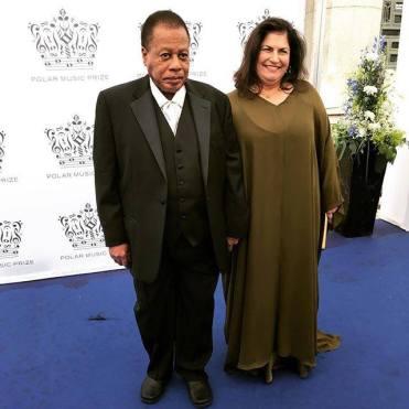 Wayne Shorter and wife Carolina at Polar Music Award Stockholm Sweden 2017