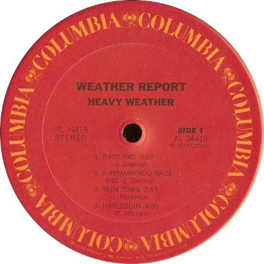 Weather Report the LP Heavy Weather the disc