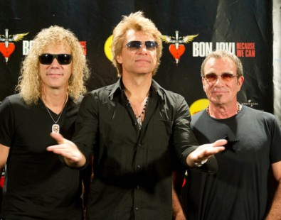 David Bryan Jon Bon Jovi and Tico Torres in Madrid 2013