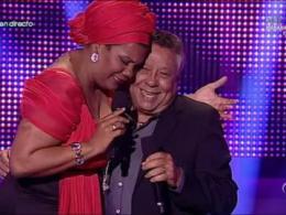Moncho y la cantante cubana Telva Rojas