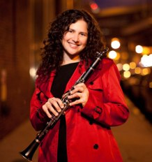 Anat Cohen in red w clarinet