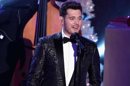Michael Buble singing