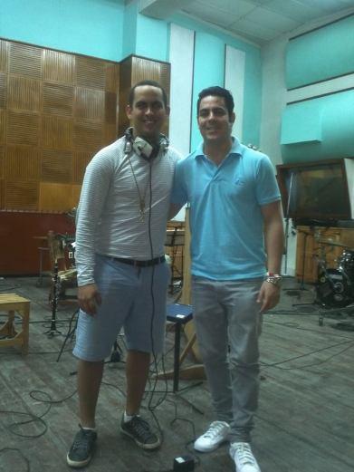 Alejandro Falcon pianista y Janio Abreu clarinetista de Aire Concierto