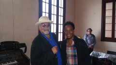 Emir Santa Cruz with Joe Lovano in Havana Jan 2018 Jazz Plaza