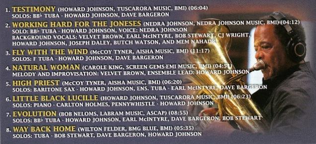 Howard Johnson CD back cover credits