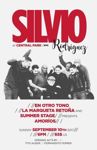 Jorgito Aragon c Silvio Rodriguez Central Park NYC