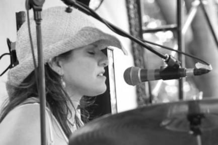 Pamela McCann nice pic drumming and singing