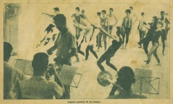 Teatro Musical de La Habana ensayo de grupo y orquesta