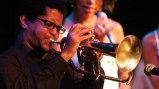 yasek manzano playing his flugelhorn
