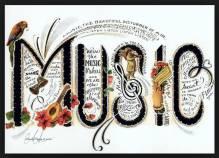 Arturo O'F postcard Music