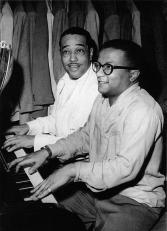 Billy Strayhorn and Duke Ellington at the pinao circa 1948