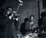 Kenny Clarke and Dizzy Gillespie playing