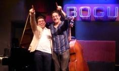 Pepe Rivero y Javier Colina en el Bogui Jazz de Madrid