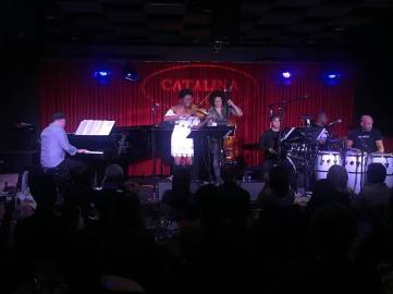 Raul Pineda w Carlitos del P violinista Santamaria et al at Catalina Jazz Club