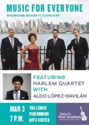 aldo lopez gavilan junco and the harlem quartet benefit concert music-for-everyone
